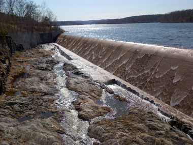 Photograph of the Cross River Spillway in Westchester County