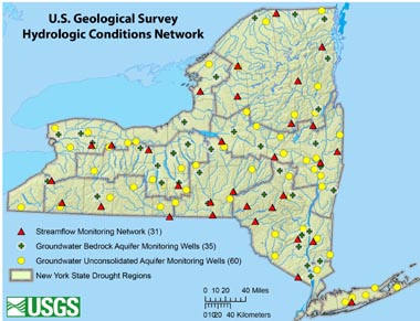 USGS Hydrologic Conditions Network map