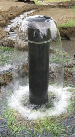 Flowing artesian well