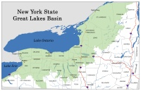 Map of Great Lakes Basin in NYS