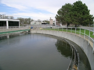 Clarifier at a Wastewater Treatment Pland