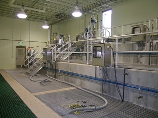 new, high-tech wastewater treatment plant