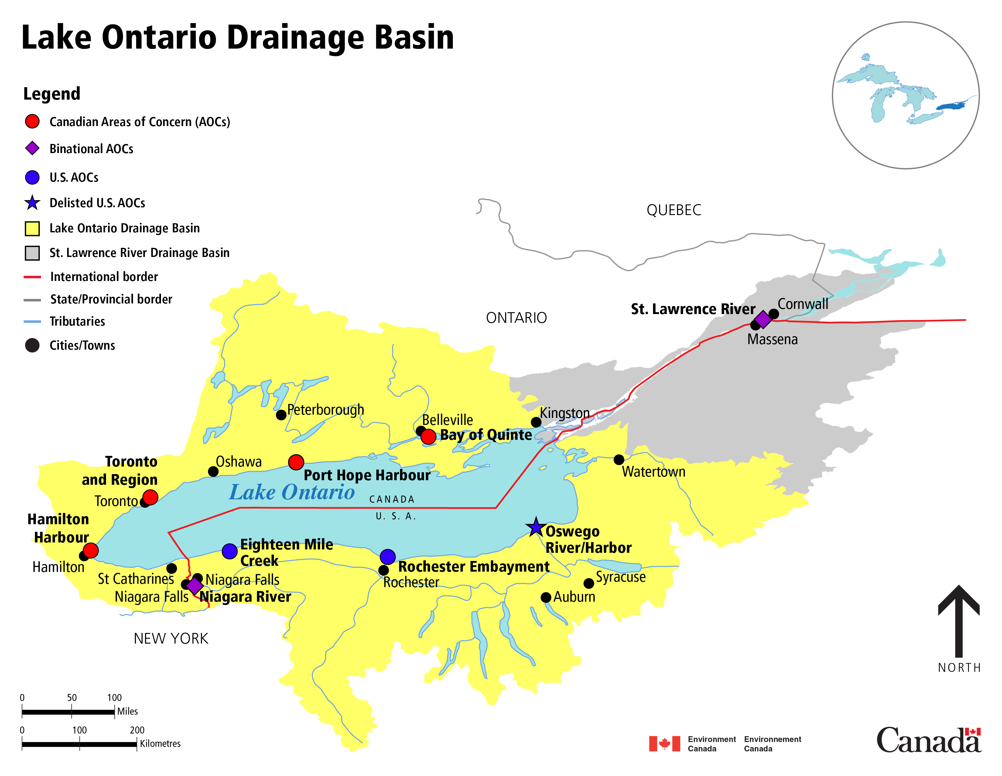 Lakes In Ontario Canada Map Managing the Lakes   NYS Dept. of Environmental Conservation