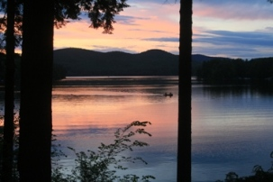a photo of Loon Lake at sunset