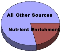 nutrient enrichment pie chart