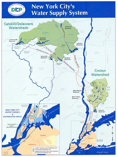 Map of New York City\'s Water Supply System