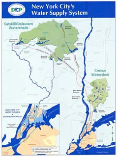 Map of NYC's water supply system