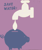 Piggy Bank Water Conservation Logo