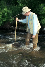 Biological kick sampling in a NYS stream