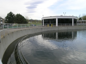 an image of a wastewater treatment plant