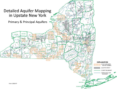 A New York state map of aquifers