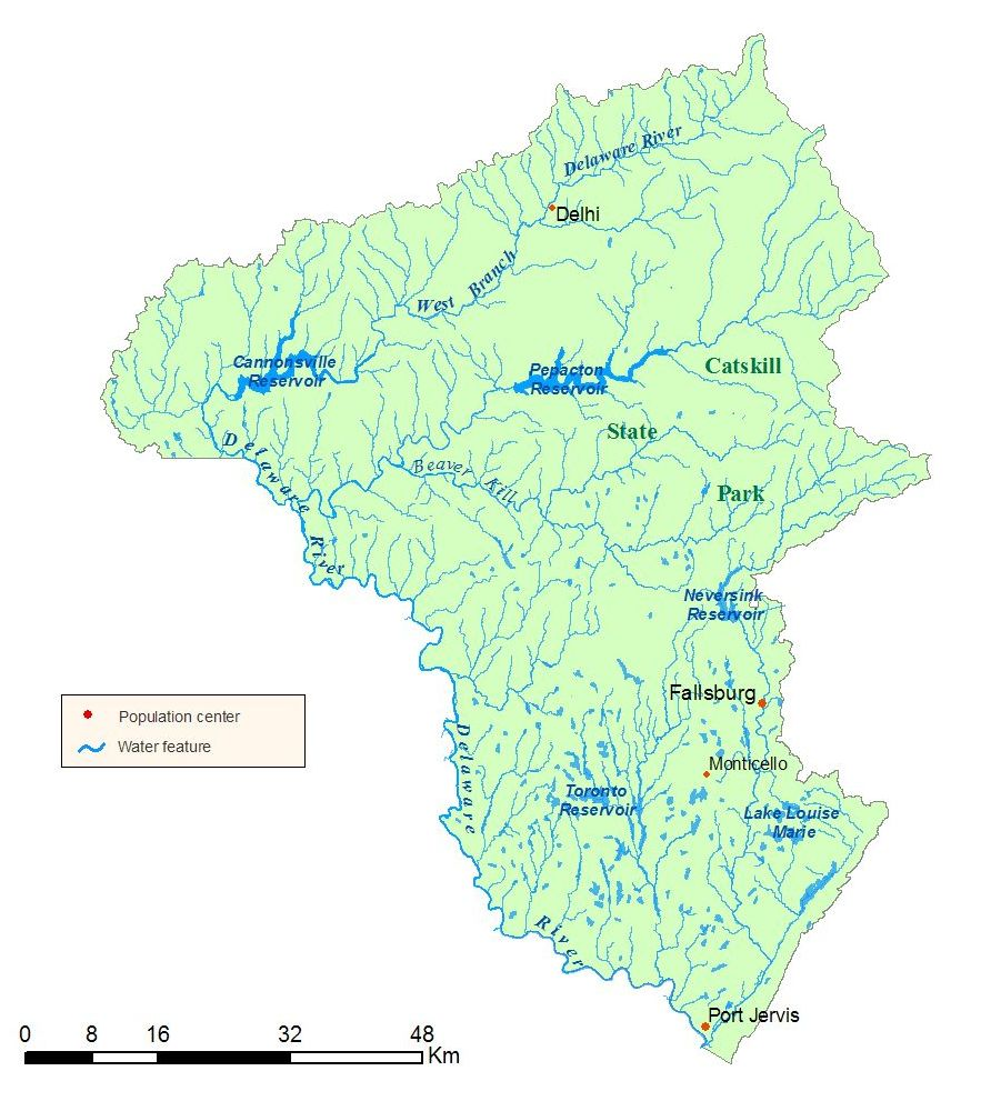Delaware River Watershed Map NYS Dept Of Environmental Conservation - Rivers of world map