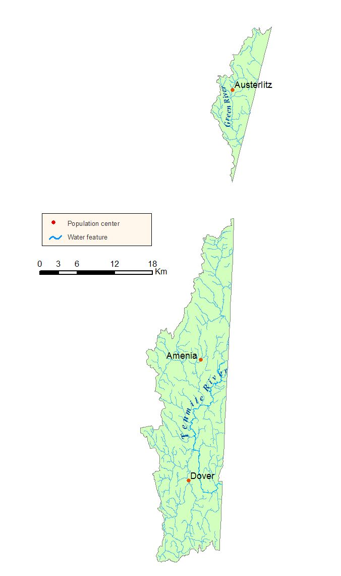 Detailed map of the Housatonic River Watershed