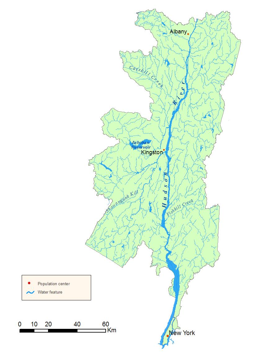 Hudson River On A Map Lower Hudson Watershed Map   NYS Dept. of Environmental Conservation