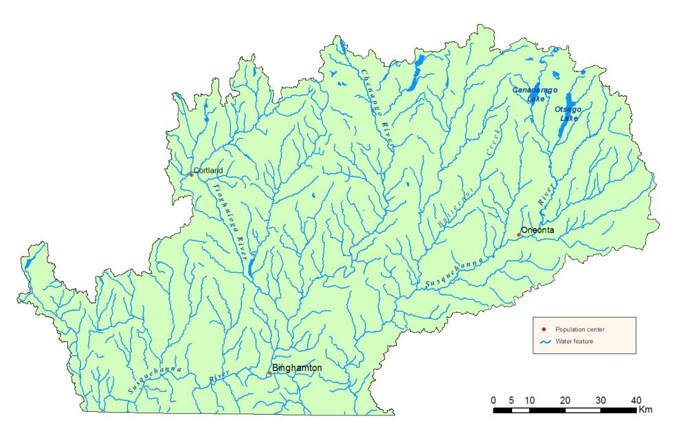 Detailed map of the Susquehanna River Watershed