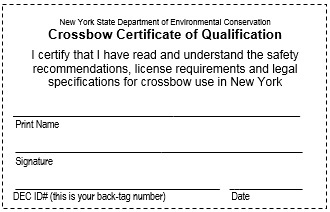 an image of a crossbow certificate of qualification