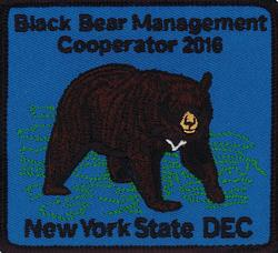 NYS DEC Bear Management Cooperator 2016 patch