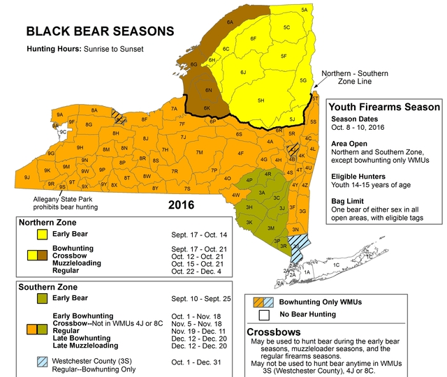 Early Season bear hunters may use a bow (with appropriate bowhunting ...