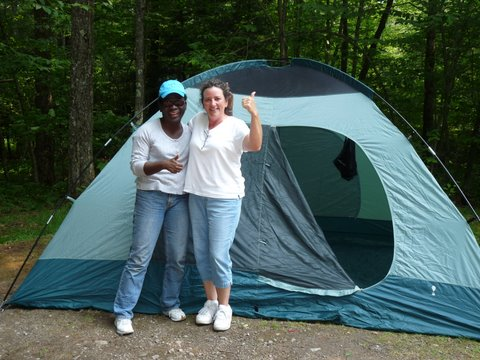 Camping at a Becoming an Outdoors-Woman Workshop