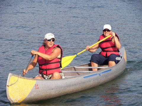 Canoeing at a Becoming an Outdoors-Woman Workshop