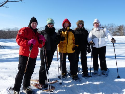 Snowshoeing at a Becoming an Outdoors-Woman Workshop