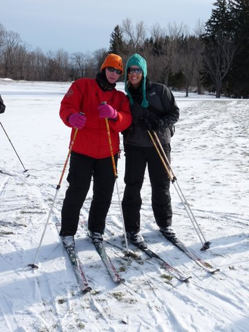 Cross Country Skiing at a Becoming an Outdoors-Woman Workshop