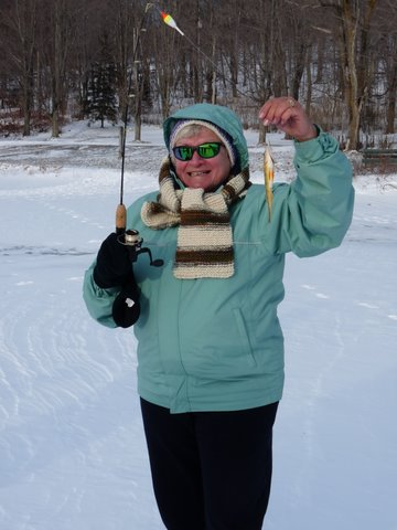 Ice Fishing at a Becoming an Outdoors-Woman Workshop