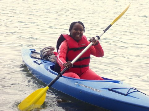Kayaking at a Becoming an Outdoors-Woman Workshop