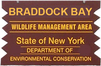 Braddock Bay WMA Brown Sign