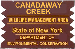 Canadaway Creek WMA Brown Sign