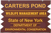 Carters Pond WMA Brown Sign