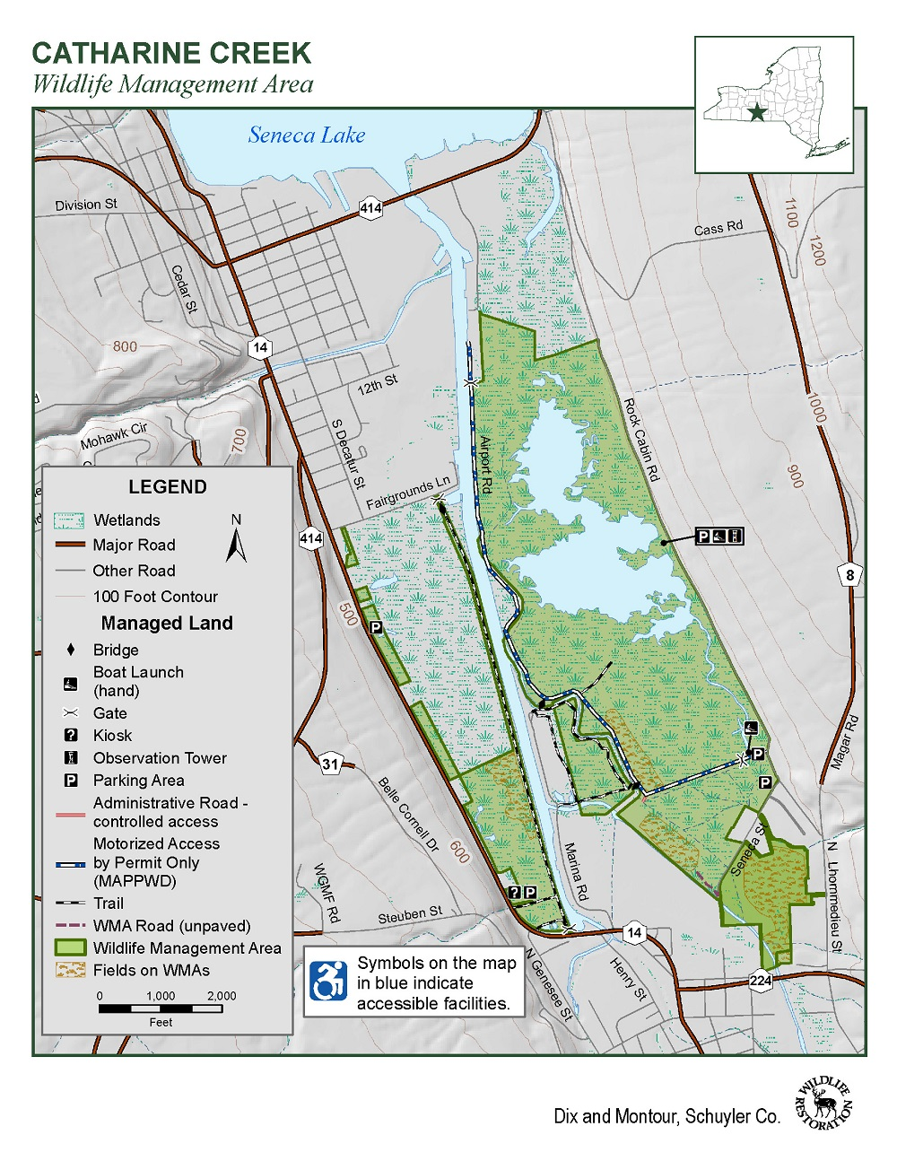 Catharine Creek WMA Map