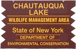 chautauqua lake brown sign
