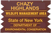 Chazy Highlands Brown Sign