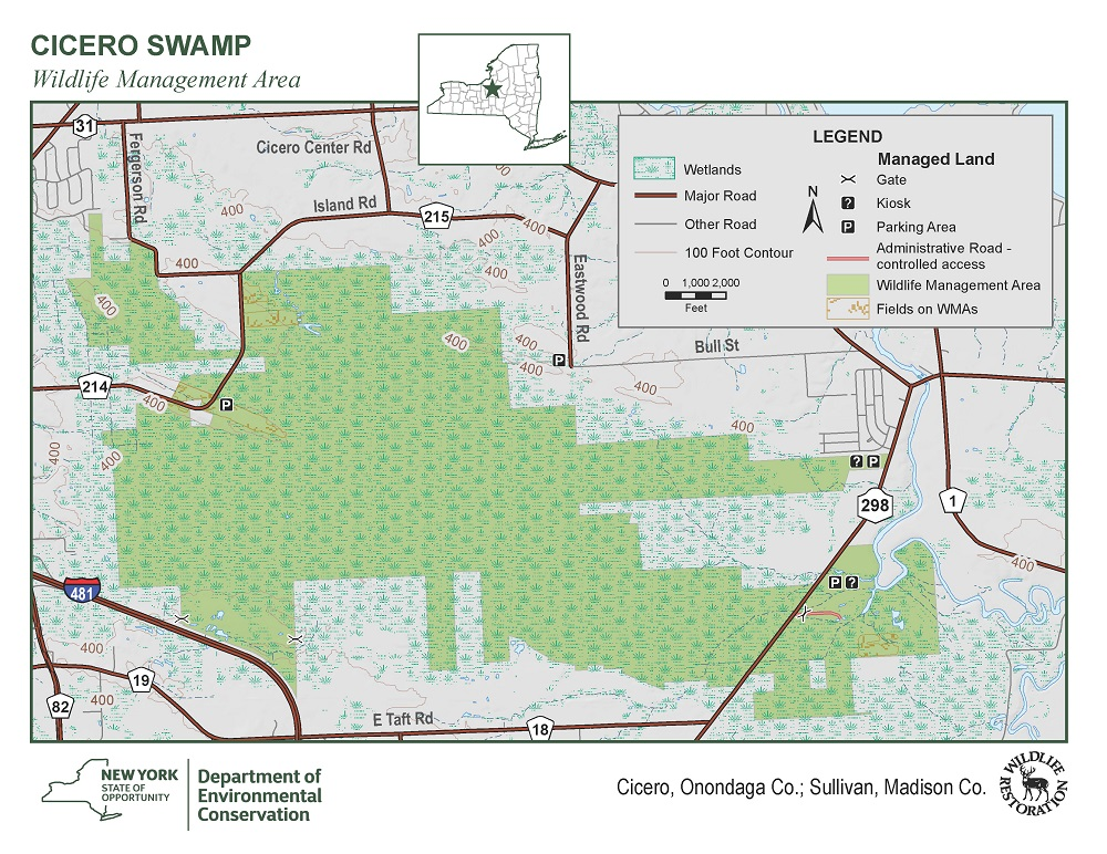 Cicero Swamp Wildlife Management Area Map NYS Dept of