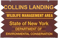 Collins Landing Brown Sign