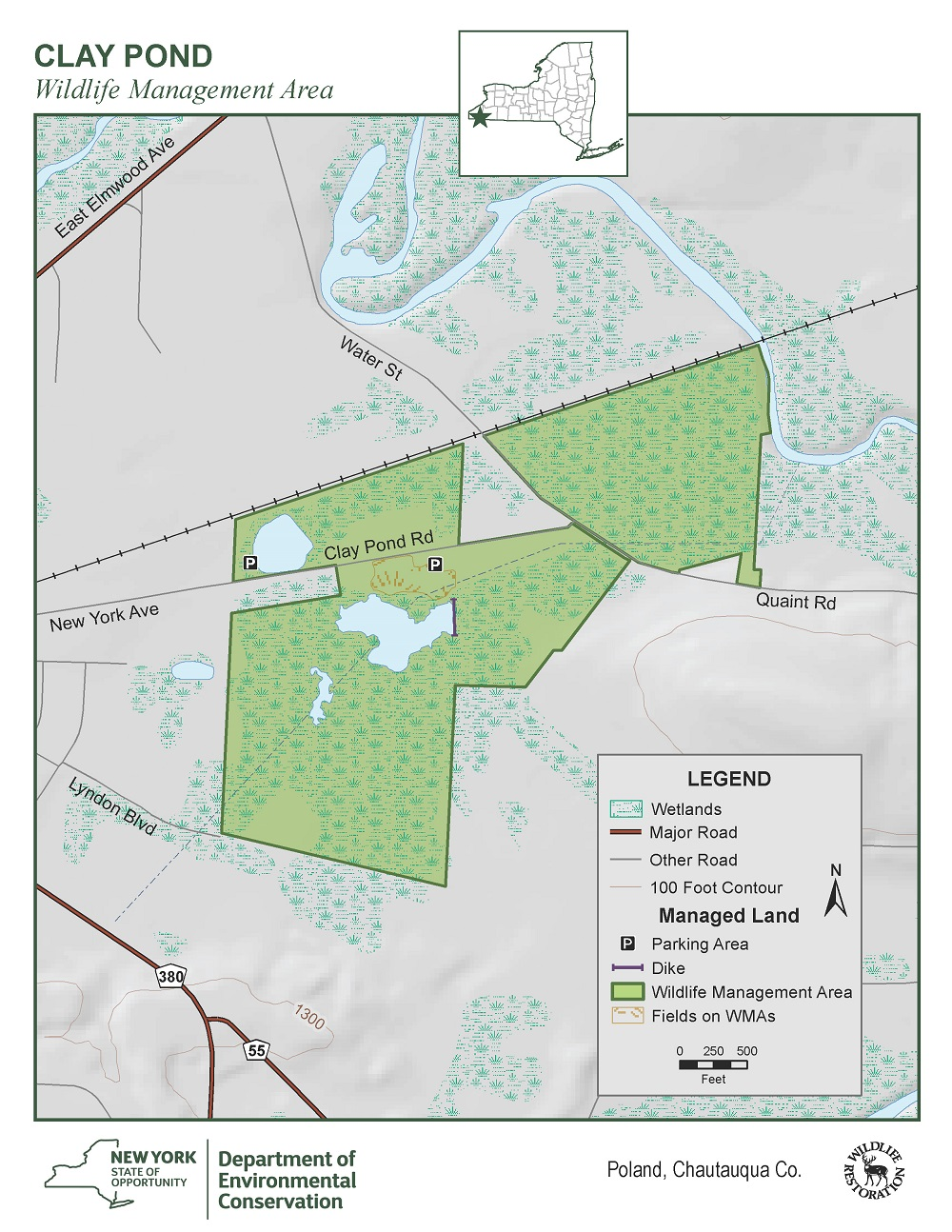 Map of Clay Pond WMA