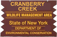 cranberry creek brown sign
