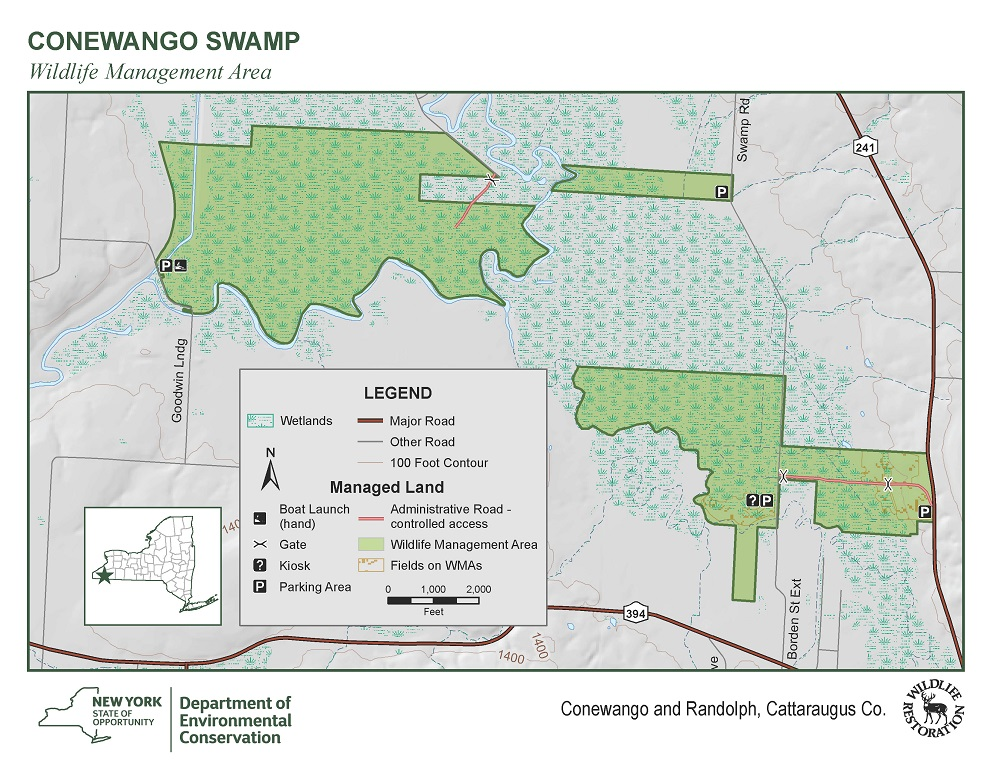 Map of Conewango Swamp WMA