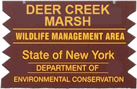 Deer Creek Brown Sign