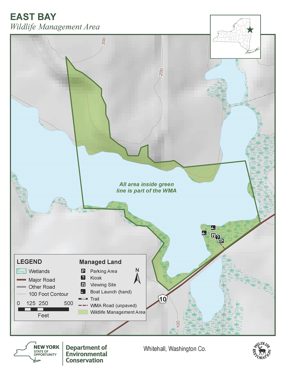 East Bay Wildlife Management Area Map