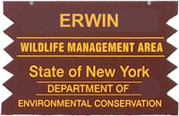 Erwin WMA Brown Sign