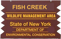 fish creek brown sign