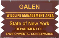 Galen WMA Brown Sign