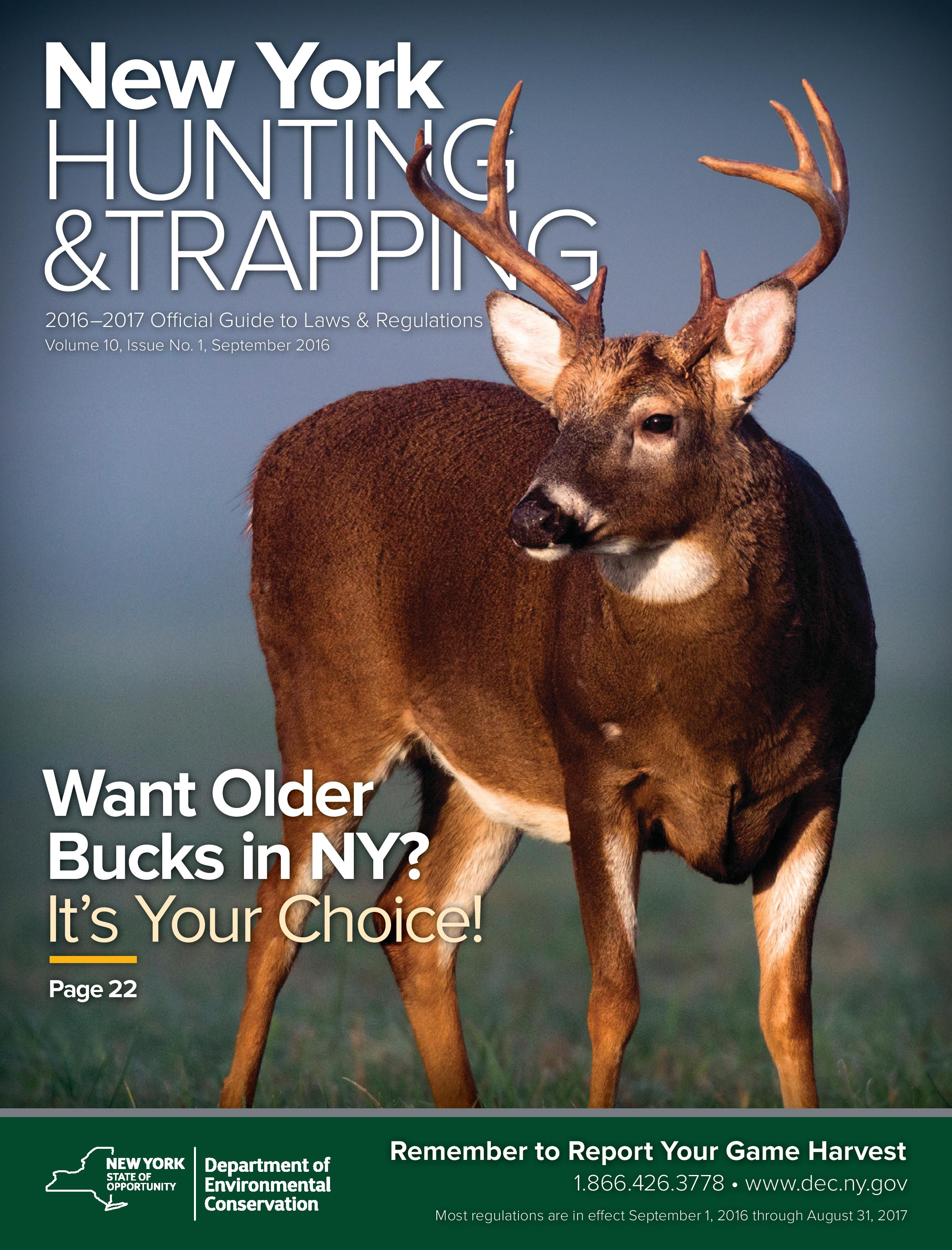 2014-15 Hunting and Trapping Regulations Guide cover