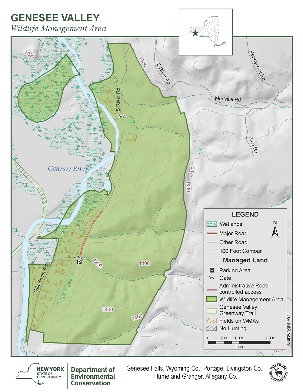Map of Genesee Valley WMA