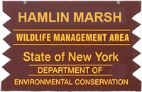 Hamlin Marsh WMA brown sign