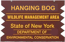 Hanging Bog WMA Brown SIgn