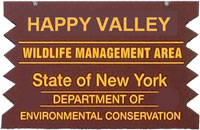 Happy Valley Brown Sign