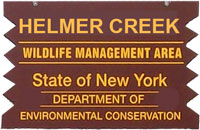 Helmer Creek WMA Brown Sign